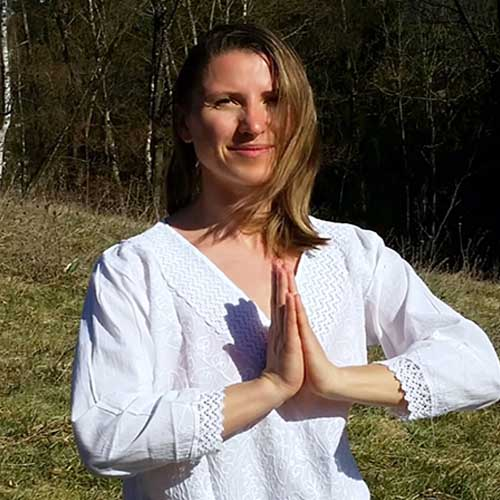Yoga teacher at school
